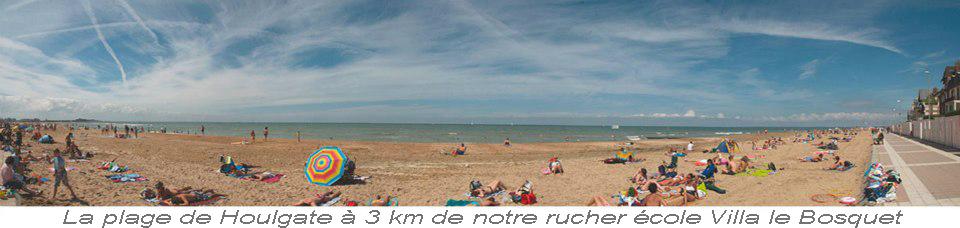 La plage de Houlgate en Normandie