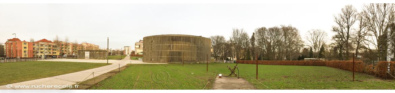 roggenfeld in Berlin an der Mauer